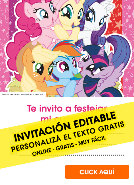 my little pony birthday invitations