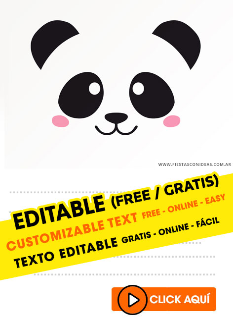 free panda girl and panda boy birthday