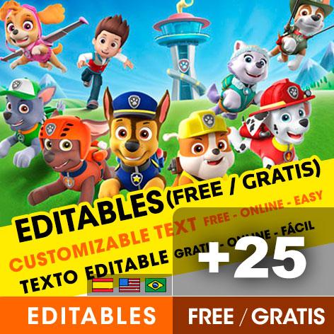 https www fiestasconideas com ar en free paw patrol birthday invitation templates html
