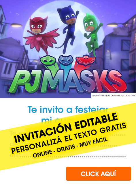 16 free pj mask birthday invitations