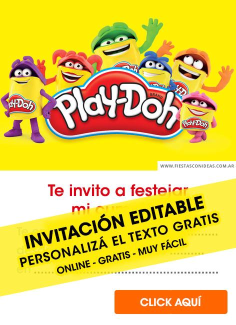 9 free playdoh birthday invitations