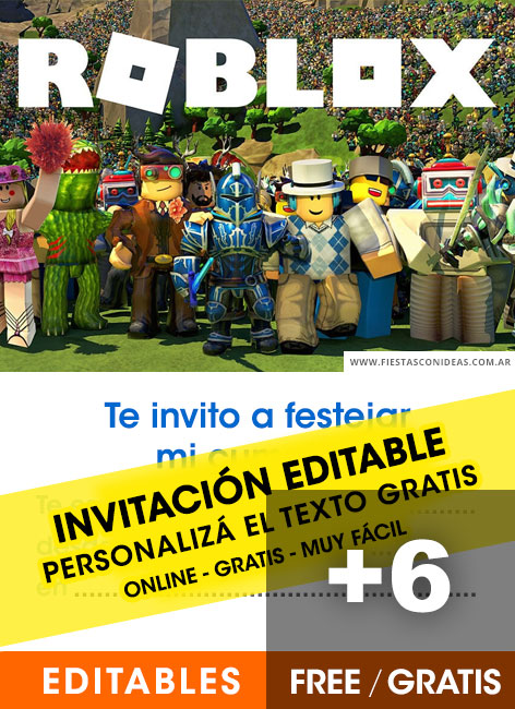 6 free roblox birthday invitations for
