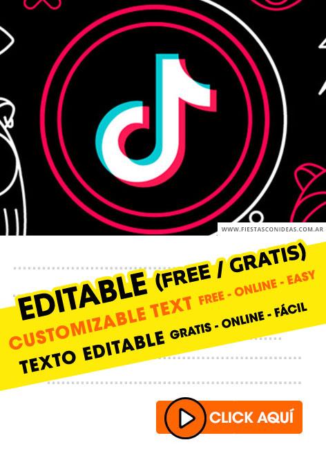 9 free tik tok birthday invitations