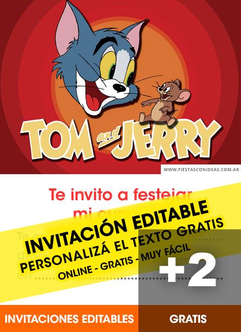 free tom and jerry birthday invitations