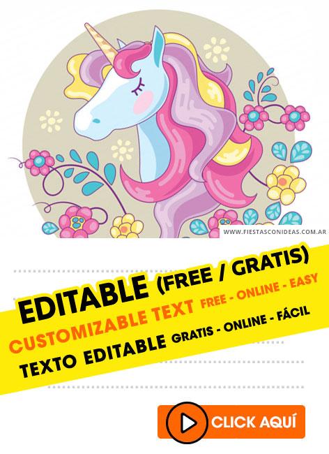55 free unicorn birthday invitations