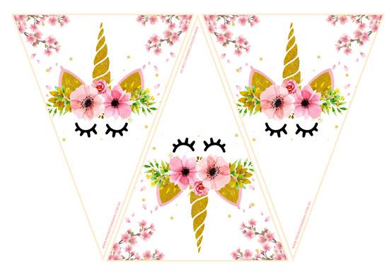 Banderines de Unicornios