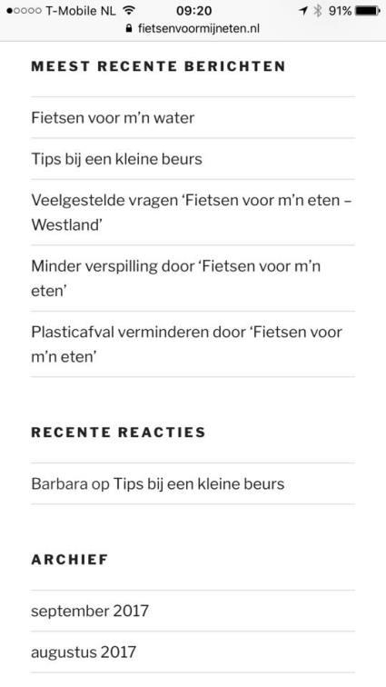 Al 5 blogs geschreven op www.fietsenvoormijneten.nl/blog