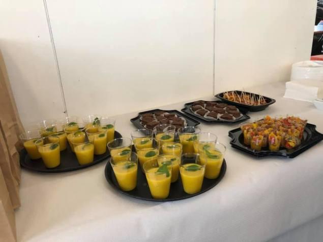 En Ewa Van Vliet- Fludra had ook heerlijk gekookt, alles met de gele courgettes van Courgettekwekerij van Vliet