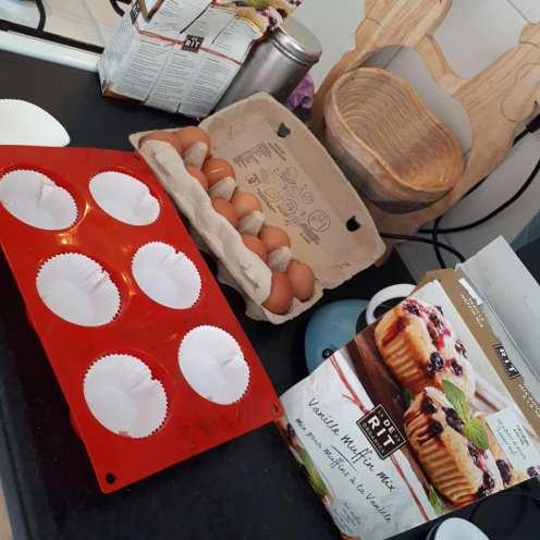 Muffins met biologische beslagmix