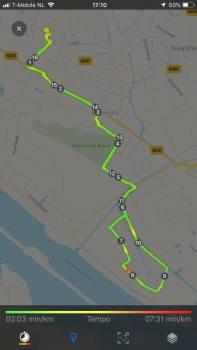 Mijn ritje van 17 km voor de perenverkoop voor Team Westland — bij Fietsen voor m'n eten.