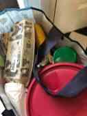 Alle boodschappen uit Westland en omstreken in de tas, mee naar de caravan — bij Fietsen voor m'n eten.