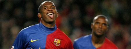 Etoo quiere seguir marcando goles con el Barça