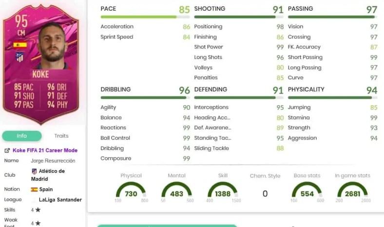 """FIFA 21: DME de Koke """"Futties"""" já está disponível"""