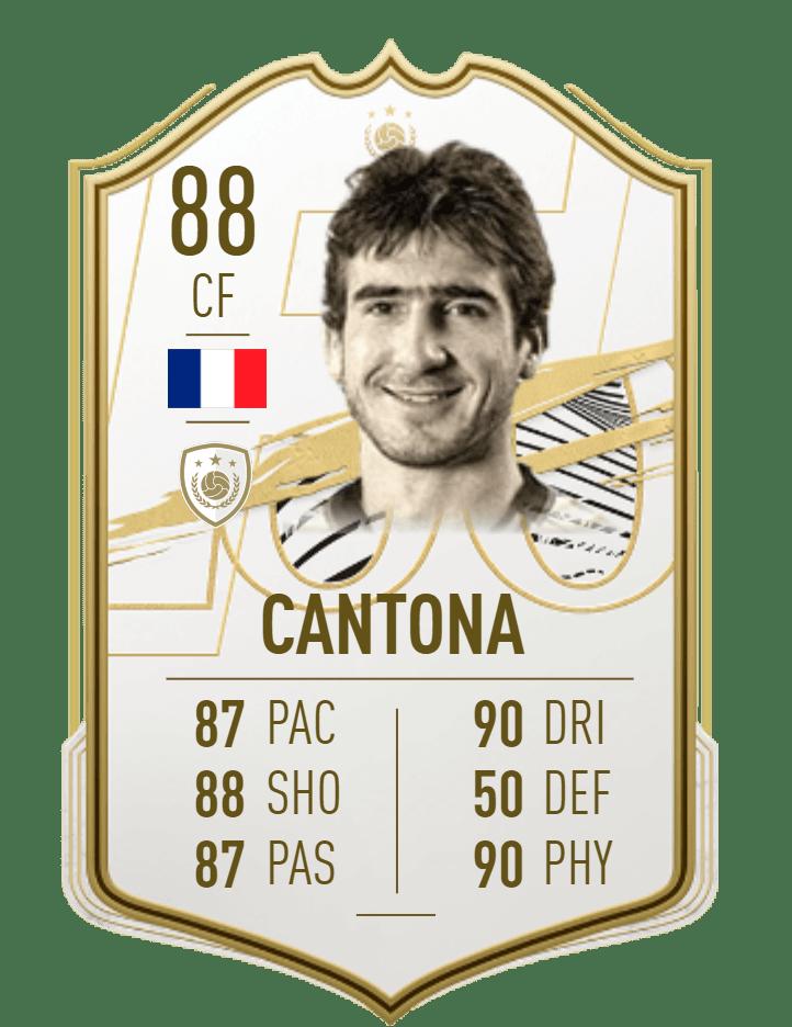 I fifa 21 har kungen äntligen blivit en ikon. Eric Cantona Fifa 21 Icon Player
