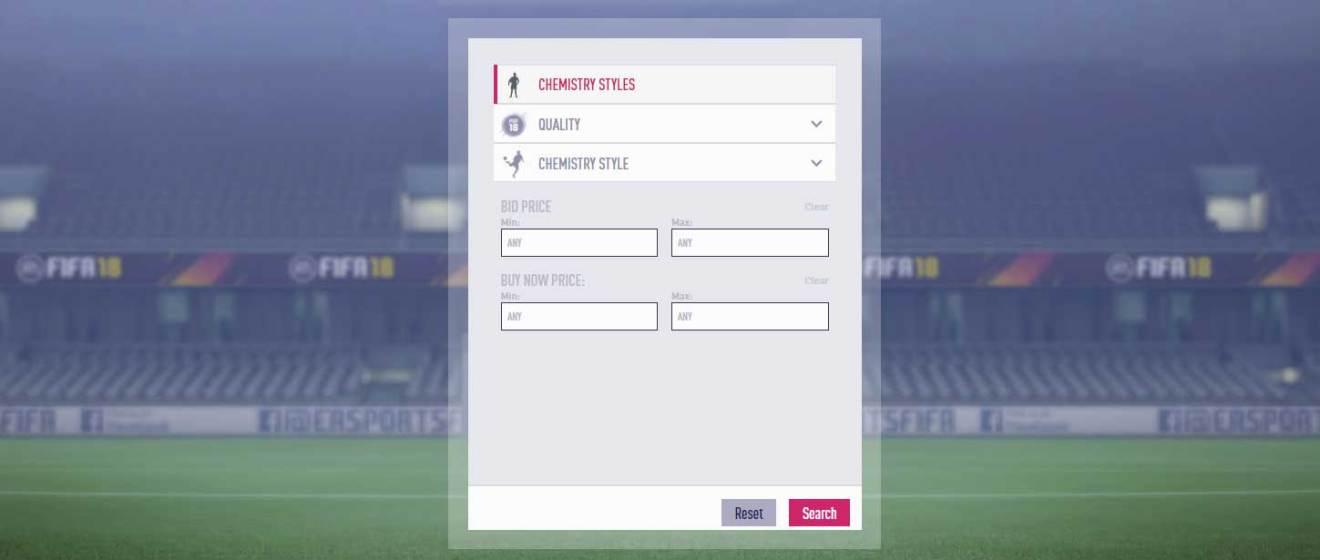 FIFA 18 kimya stilleri FIFA 18 Ultimate Team için kılavuz