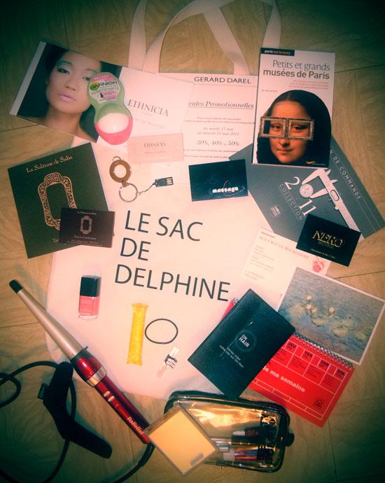 Et dans le sac de Fifi, il y a...   sac delphine