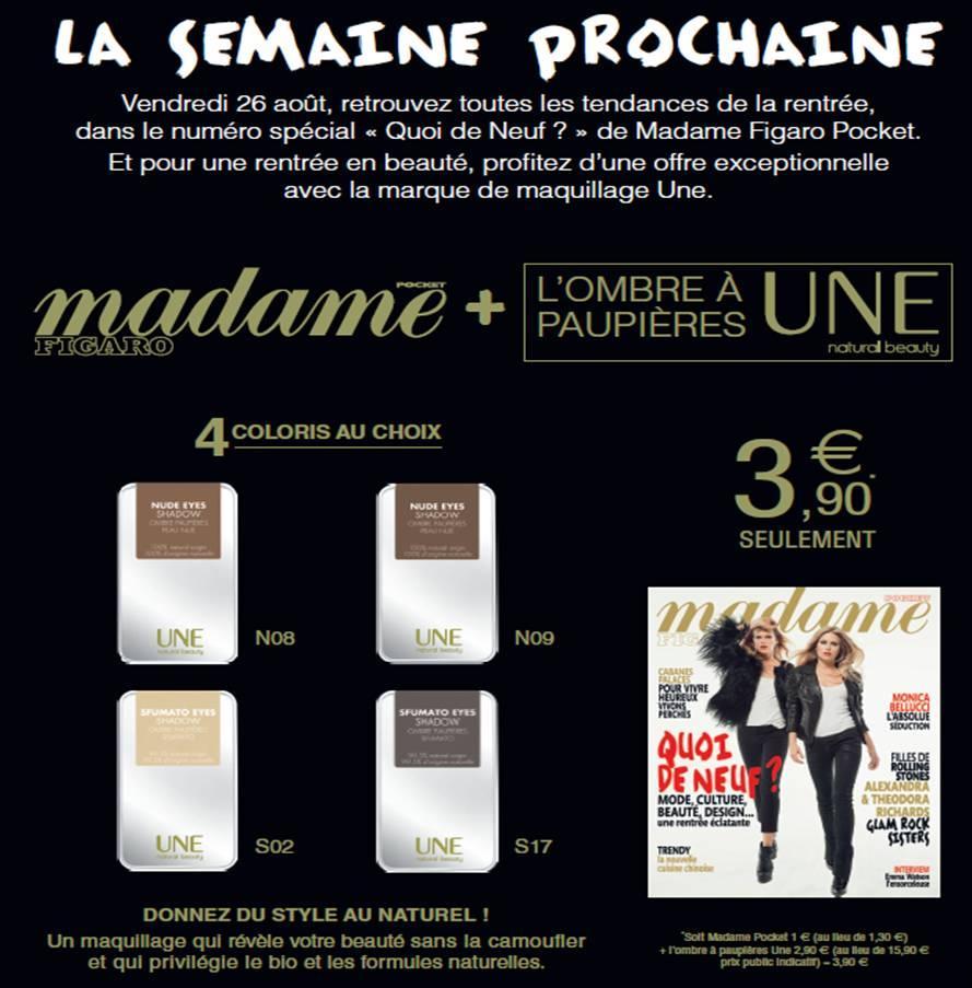 Un FAP Une à 3,90 € avec le Figaro Madame   AXN49BTCMAE onb