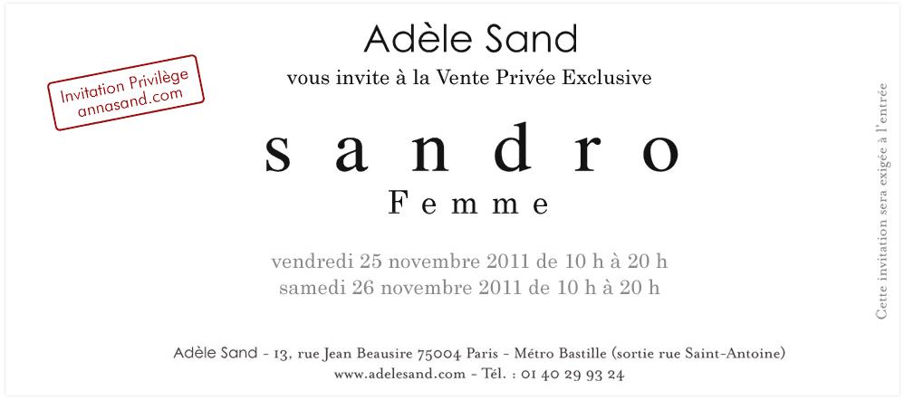 Vente privée Sandro chez Adèle Sand   2011 11 25 09h49 26
