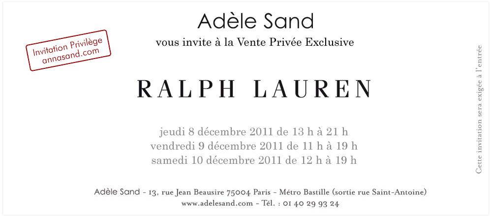 0774dc6ed5a Vente privée Ralph Lauren chez Adèle Sand - Fifi les bons tuyaux