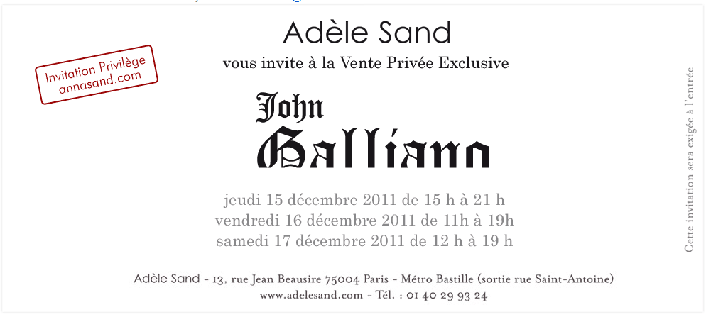 Vente privée John Galliano chez Adèle Sand   2011 12 14 15h51 11