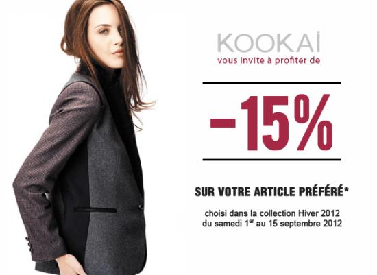 15% sur votre article préféré Kookaï    kookai15 550x401
