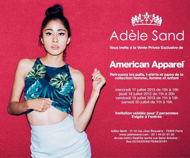 Vente privée American Apparel chez Adèle Sand   Eté 2013   RTL JZ 10  AdeleSand FR FR