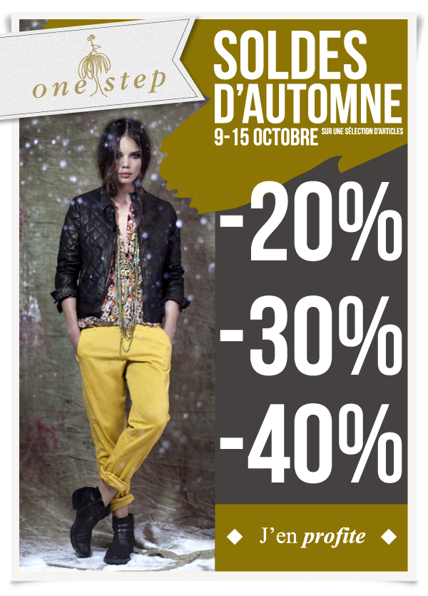Soldes dautomne One Step   Automne 2013   one step