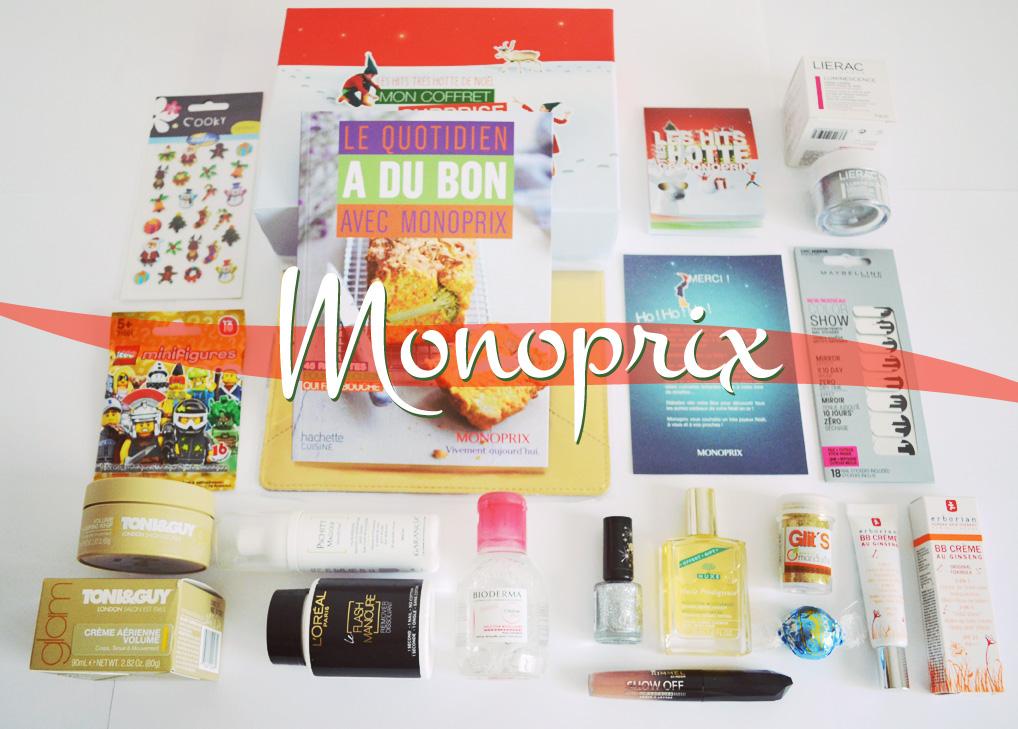 Les hits très hotte de Monoprix   box noel monoprix