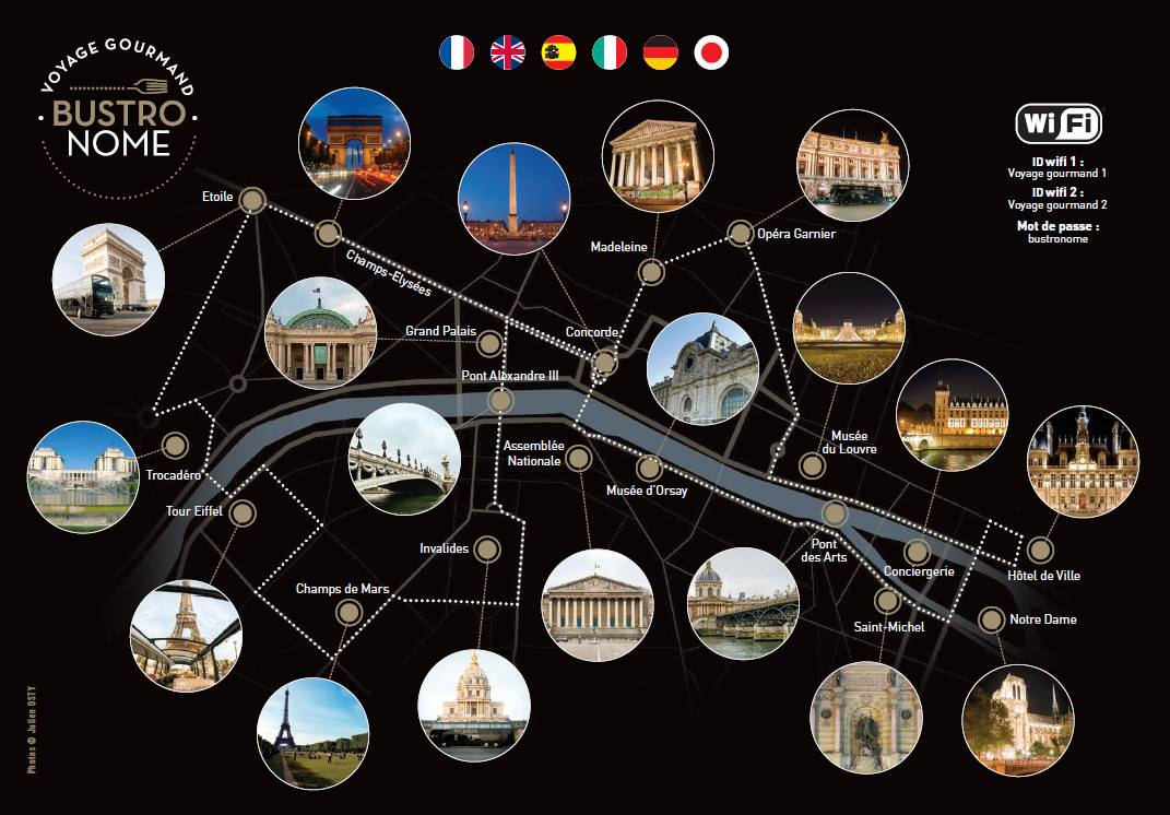 Le Bustronome : Paris version impérial   bustronome parcours