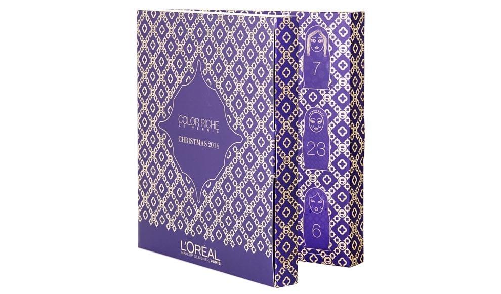 Les calendriers de lavent 2014   calendrier avant loreal e1416265505620
