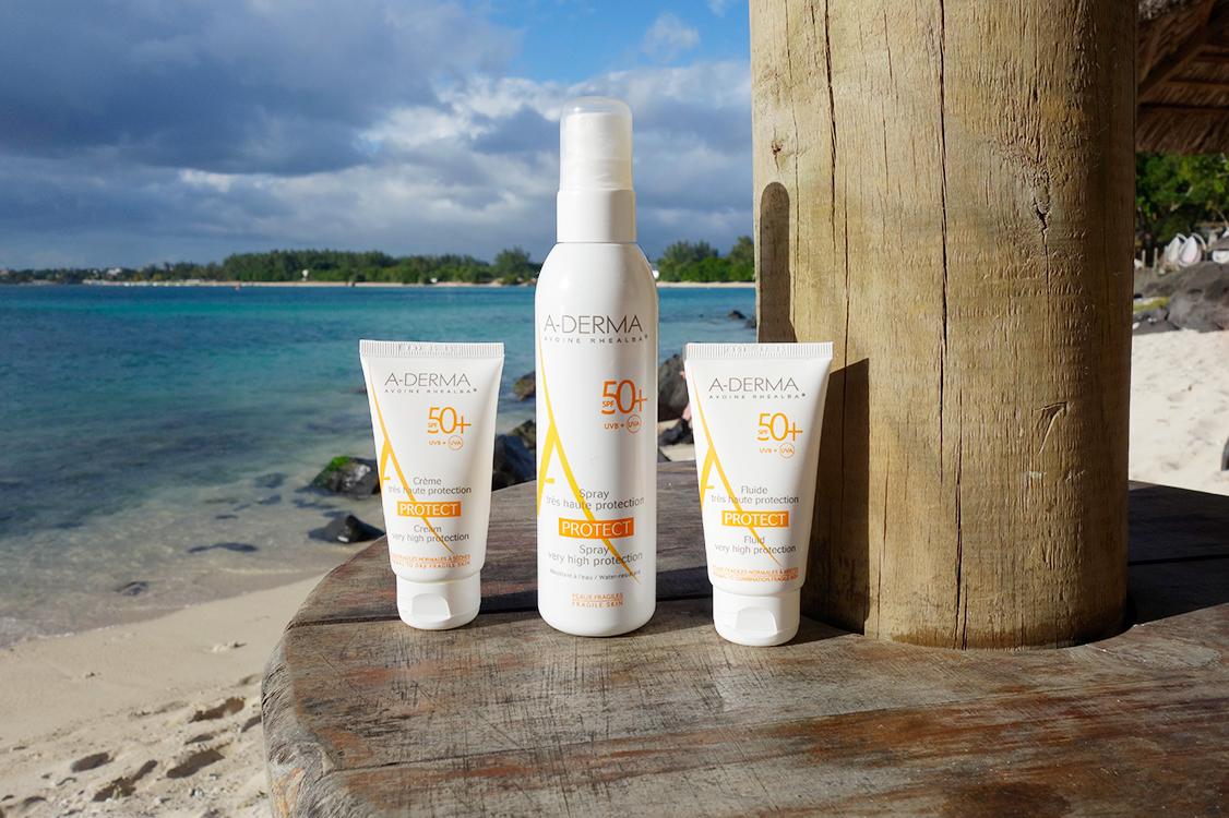 Moi, le soleil, ma peau sensible et A Derma   a derma protect 2