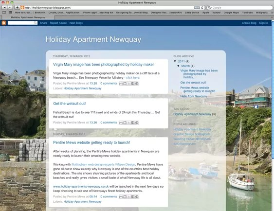 Holiday Apartment Newquay Blog