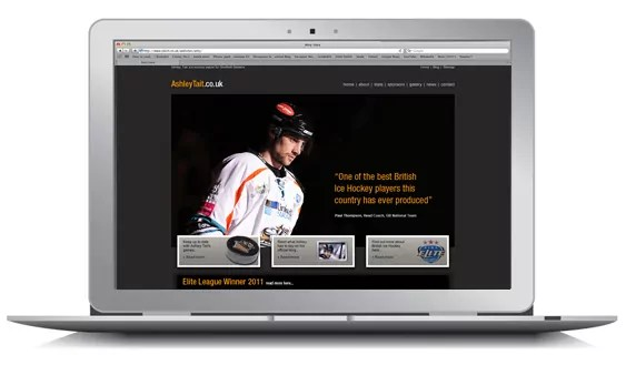 Ashley Tait's New Website Design Nottingham