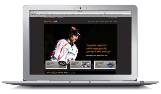 Ashley Tait's New Website Design Nottingham