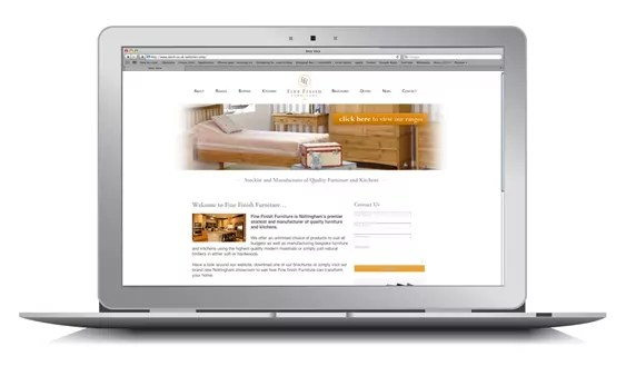 SEO campaign fine finish furniture website