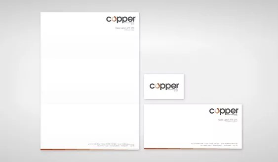 copper brand design template