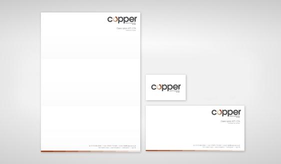 copper brand design template