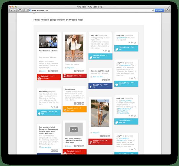 Website Design For Gem 106 Host Amy Voce social media