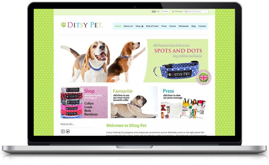 ditsy pet e-commerce web design nottingham