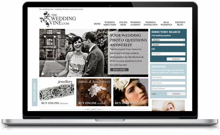 The Wedding Vine web design nottingham