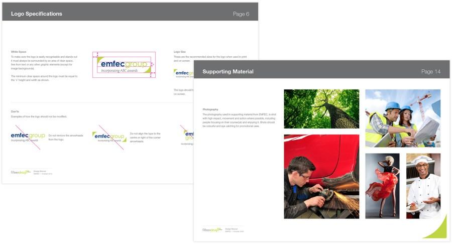 EMFEC logo design and branding specifications