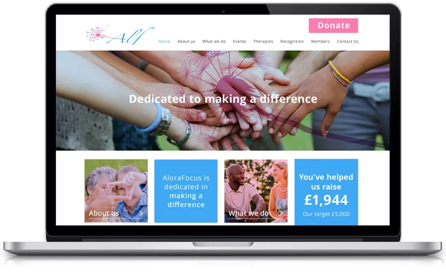website-design-for-charity-alora-focus