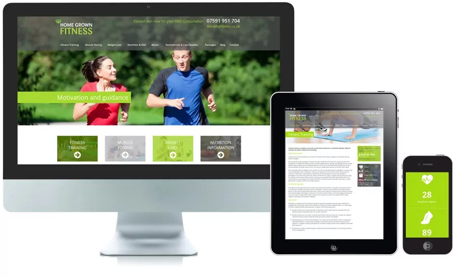 Home Grown Fitness Personal Trainer Nottingham Website