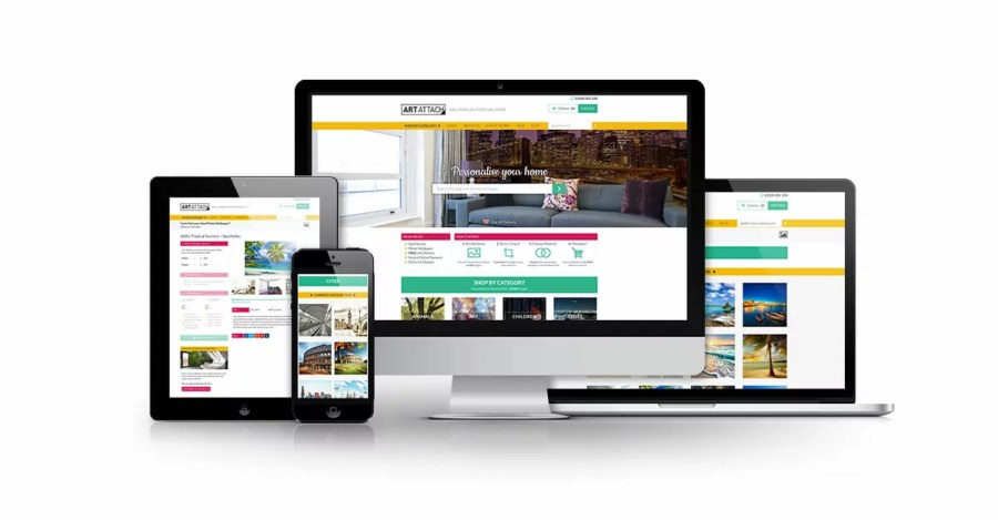 Art Attach E-Commerce Website Design Nottingham
