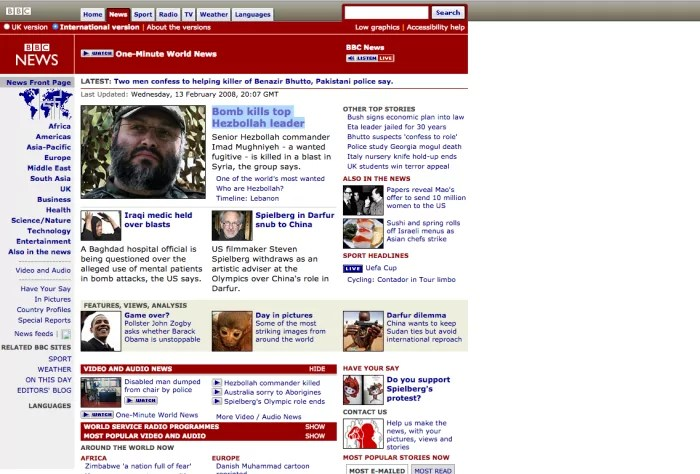 BBC News Circa 2013