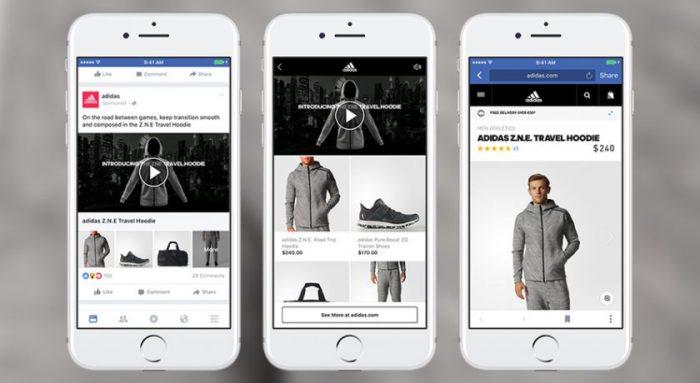 facebook collections adidas