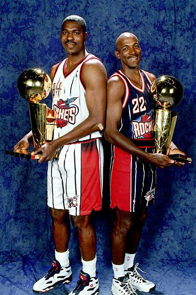 d9a940fb0809 A champion at last - Drexler wins an NBA crown with good friend Hakeem  Olajuwon.