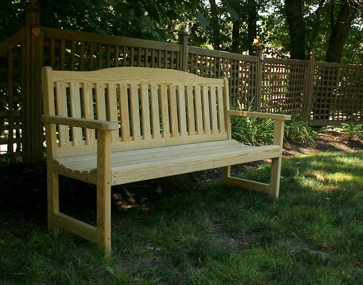 Treated Pine English Garden Bench