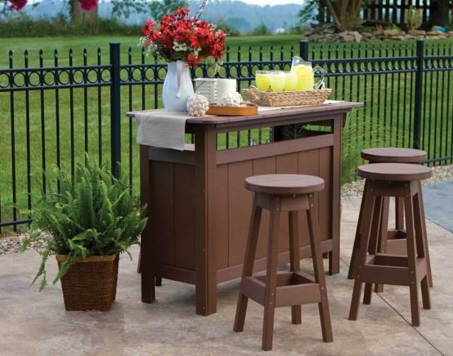 poly lumber outdoor bar