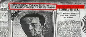 Εφευρέτης το 1906 είχε οραματιστεί το κινητό τηλέφωνο